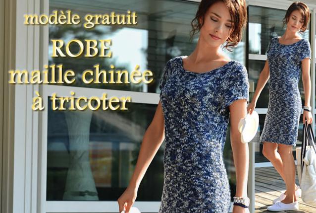 Tricot gratuit : robe raglan au point jersey
