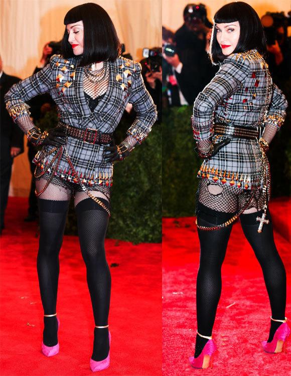 Madonna punk en Givenchy par Riccardo Tisci