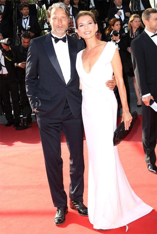 MADS MIKKELSEN et HANNE JACOBSEN au Festival de Cannes 2013