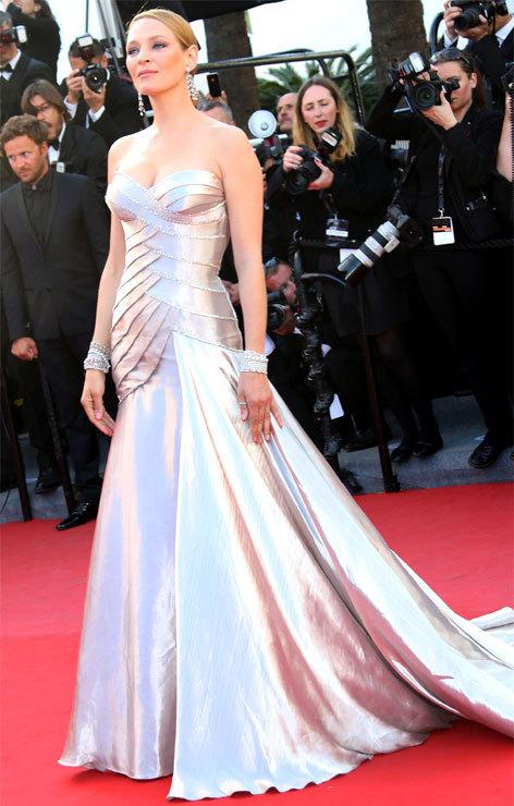 Uma Thurman au Festival de Cannes 2013