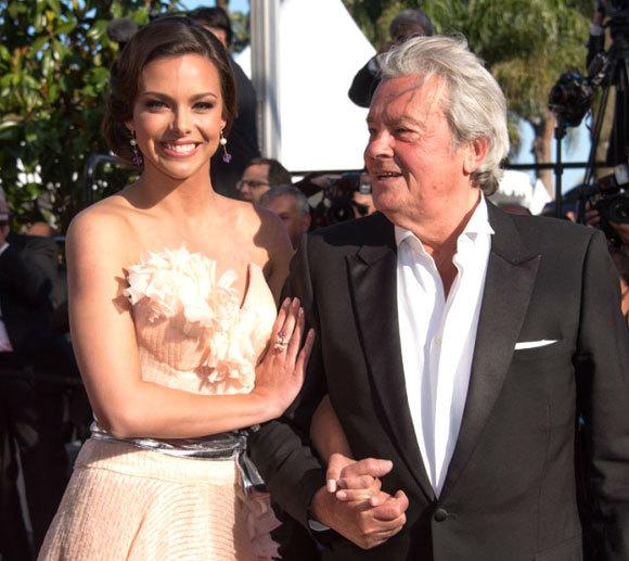 Marine L'Orphelin et Alain Delon au Festival de Cannes