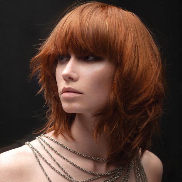 Coiffure INTERCOIFFURE - cheveux mi-longs - automne-hiver 2012/2013
