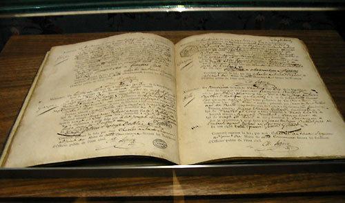 Registre et acte de naissance de Victor Hugo (facsimilé) © D.R.