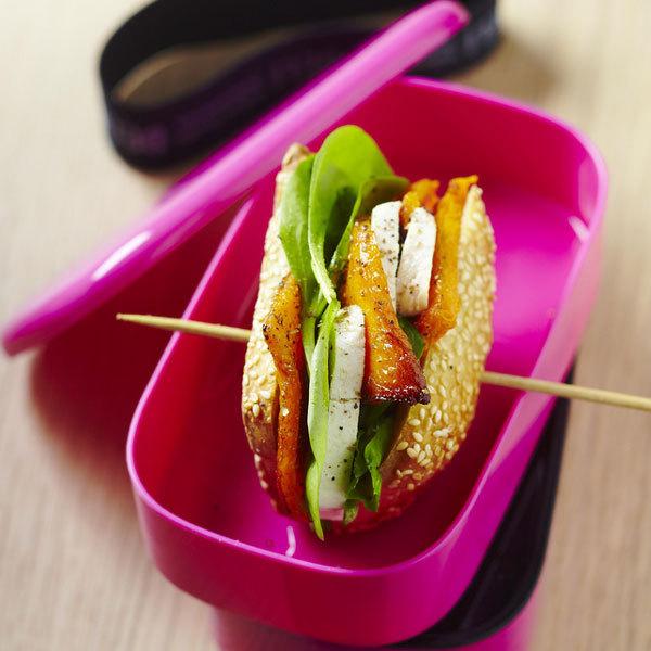 """Zoom recette pour lunch box de Yannick Alléno : Baguette """"pep's"""""""