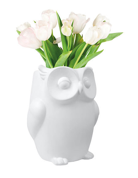 Idée cadeau de Noël FAUNE n° 13 - Vase hibou INVOTIS
