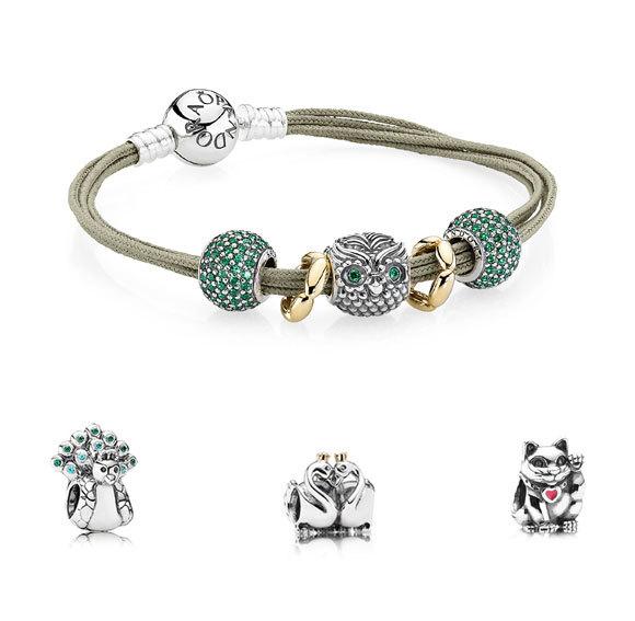 Idée cadeau de Noël FAUNE n° 16 - Bracelet avec charms PANDORA