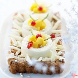 Croquant aux amandes et douceur de crème au chocolat blanc