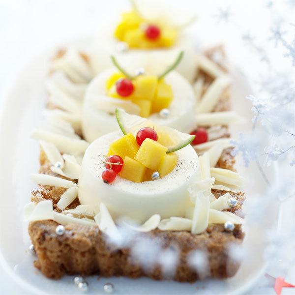 Zoom Croquant aux amandes et douceur de crème au chocolat blanc