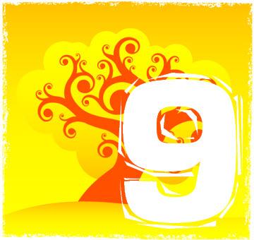 Chiffre numérologique 9