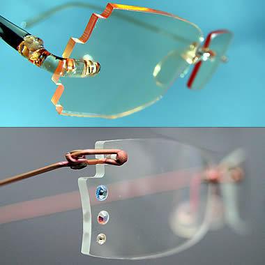 lunettes avec option verres scuptés et décorés