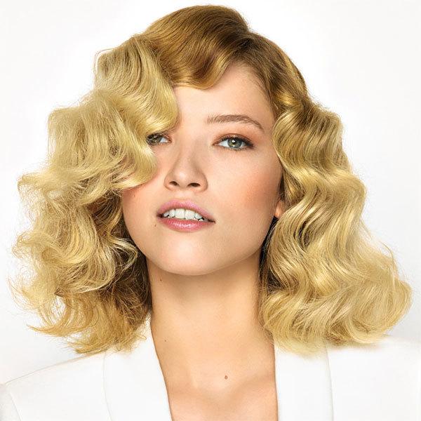 Coiffure cheveux mi-longs bouclés SAINT ALGUE - printemps-été 2014
