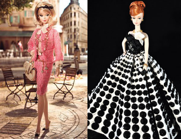 Les vêtements couture de la poupée Barbie