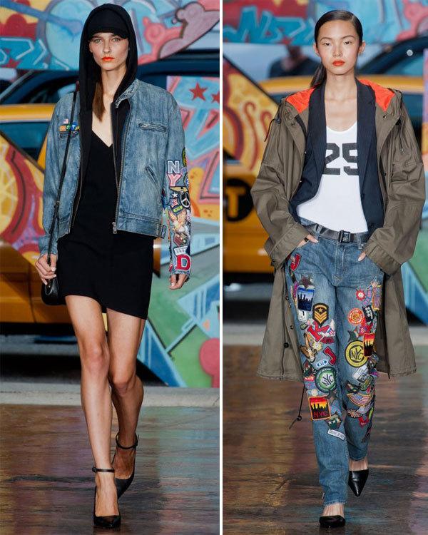 Les écussons : collection printemps-été 2014 DKNY