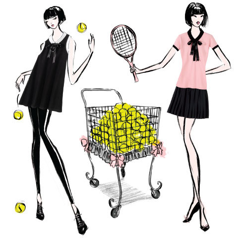 Collection capsule Roland Garros par Chantal Thomass