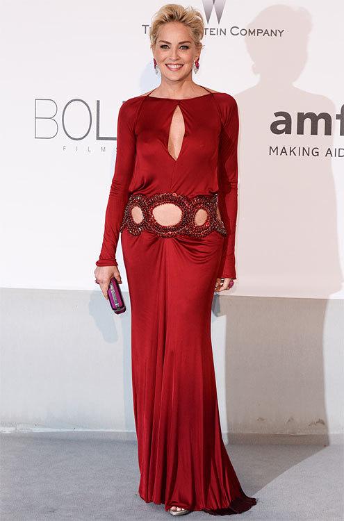 Sharon STONE au Gala amfAR 2014 à Cannes