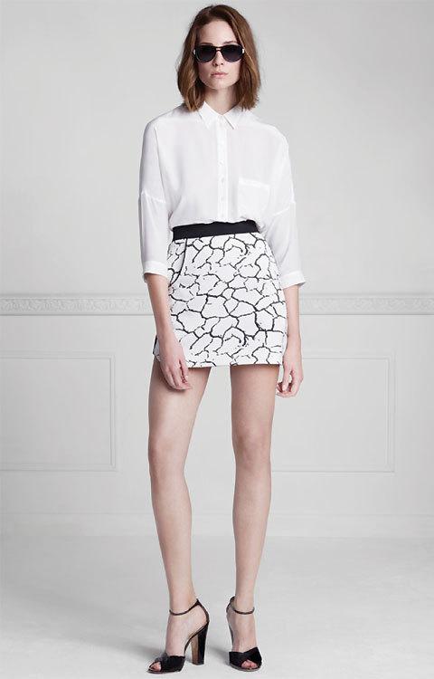 Chemise blanche avec manches 3/4 épaules tombantes Anne Fontaine - été 2014