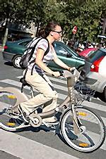 Velib', le vélo en libre service à Paris