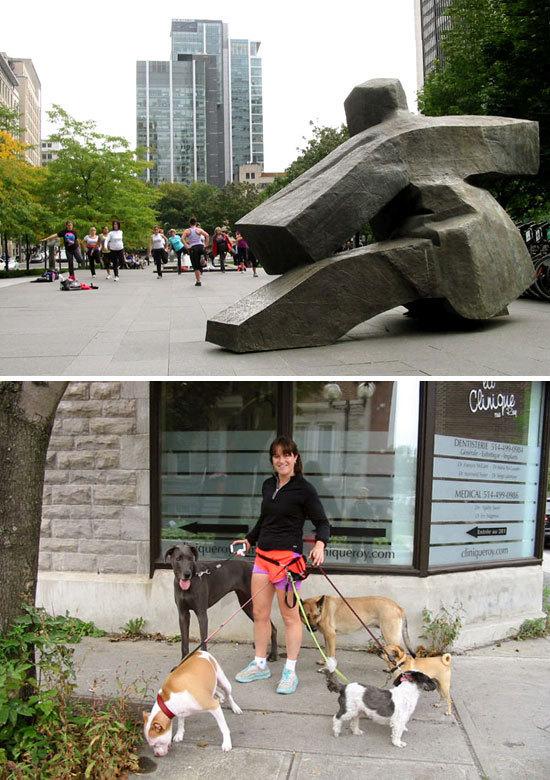 Séances de fitness dans les rues de Montréal (D.R.)