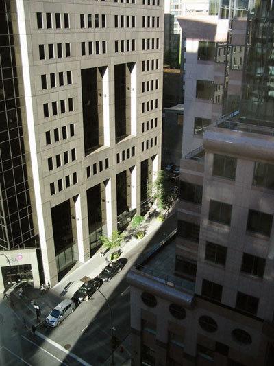 Montréal de l'hôtel Saint-Martin, rue Sainte-Catherine (D.R.)