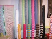 nattes en fils de plastique tissés