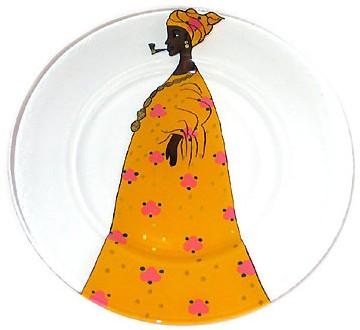 assiette peinte à la main, Csao