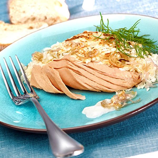 Zoom recette Filet de thon au naturel en conserve au chou fleur gratiné