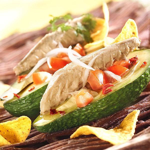 Zoom recette Avocats mexicains et filets de maquereaux en conserve