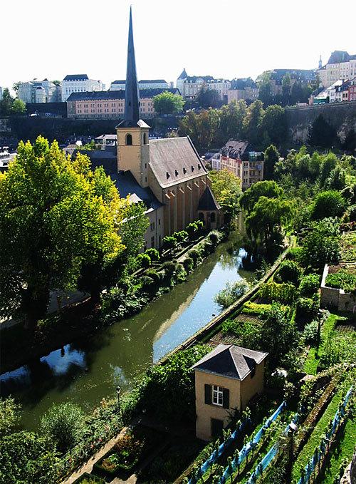 Luxembourg-ville : L'Alzette et le Grund (D.R.)