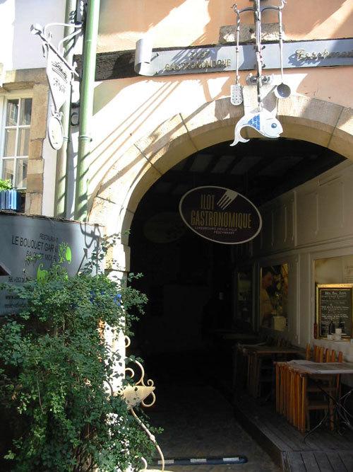 L'entrée de l'îlôt gastronomique à Luxembourg (D.R.)