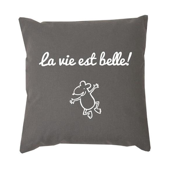 Idée cadeau de Noël les MOTS n° 1 - Coussin L'Atelier des Filous
