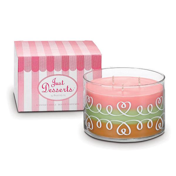 """Idée cadeau de Noël Les COULEURS n° 12 - Bougie gourmande """"Just Dessert"""" by PartyLite"""