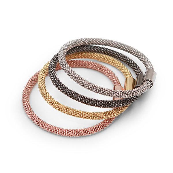 Idée cadeau de Noël Les COULEURS n° 16 - Bracelets tube Pierres-de-Julie