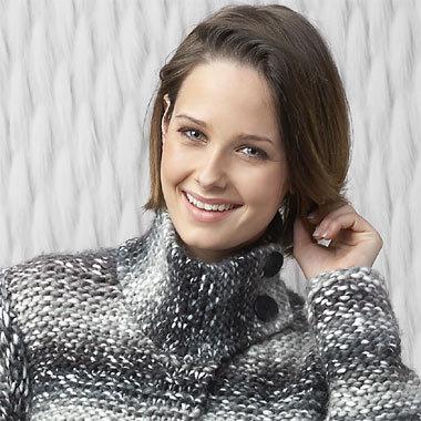 Modèle expliqué gratuit : Manteau tricot au point mousse et jersey envers à tricoter