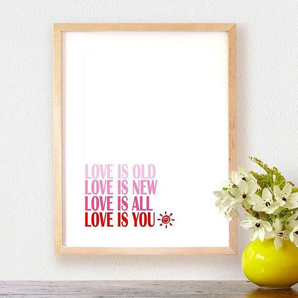 Affiche 'Love is You' A Little Market