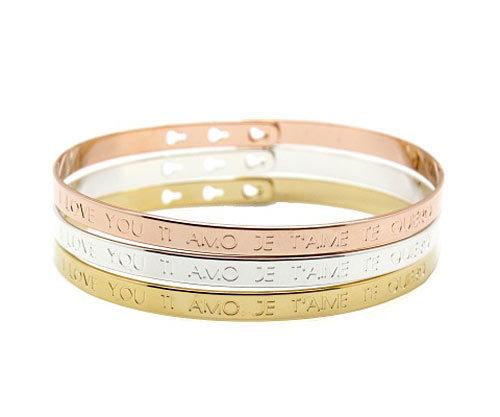 Bracelets Mya Bay gravés