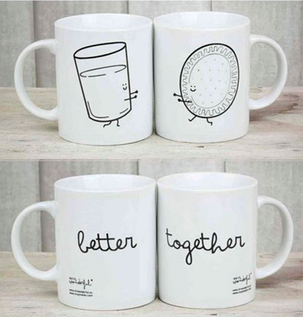 Duo de mugs 'Better Together' Mr Wonderful