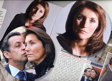 Cécilia et Nicolas Sarkosy (Elle du 22 octobre 2007).