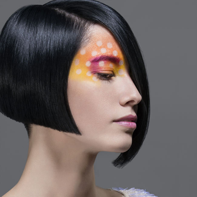 Coiffure cheveux mi-longs - INTERCOIFFURE - tendances printemps-été 2015