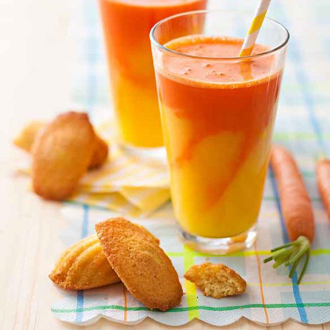 ZOOM recette sans gluten : Madeleines et smoothie d'été