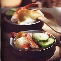 raclette de concombre et de crabe