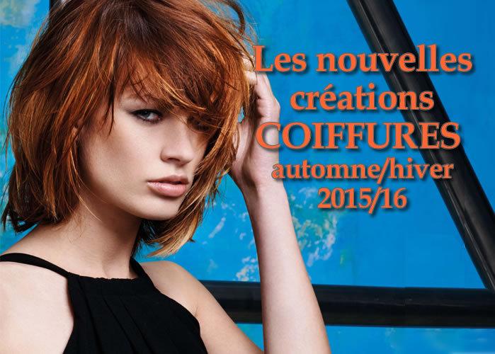 Nouvelles coupes et coiffures tendances Automne 2015-Hiver 2016 - Création Fabio Salsa