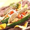 Avocats mexicains et filets de maquereaux en conserve