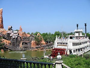 Parc Disneyland, le bateau à roue