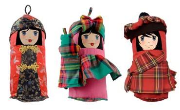 poupées Luna, Angus et Yumé de pupomondo