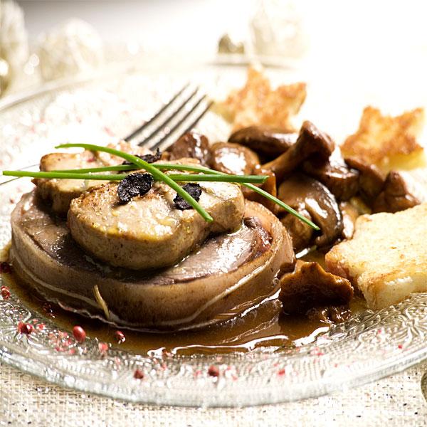 ZOOM boeuf rossini au foie gras de canard façon Compagnons du Goût