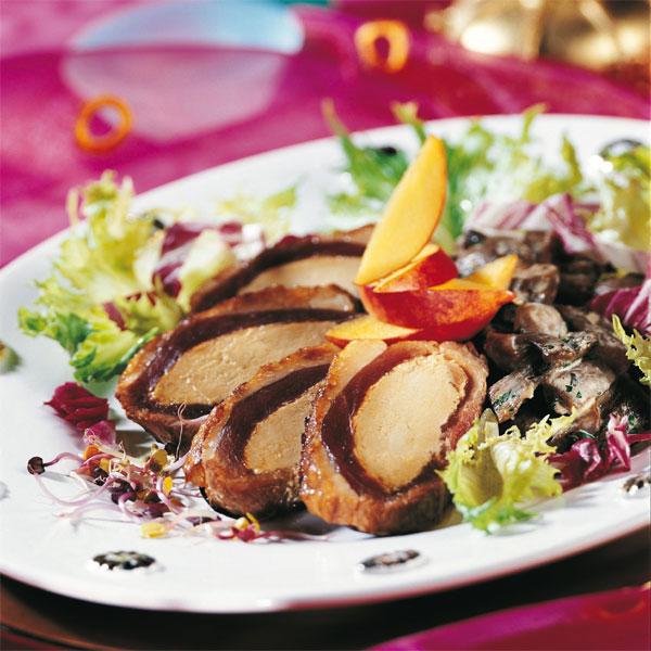 ZOOM recette magret de canard farci au foie gras façon Compagnons du Goût
