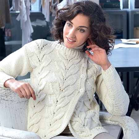 Veste gilet au point épis maille XL à tricoter : explications gratuites.