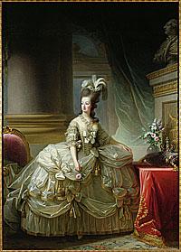 Marie-Antoinette en grand costume de cour (1778) par Elisabeth Vigée-Le Brun © 2007 Kunsthistorisches Museum mit MVK und ÖTM Wissenschaftliche Anstalt öffentlichen Rechts