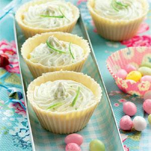 Spécial Pâques : nids au chocolat blanc et au citron vert