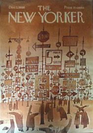 Couverture du New Yorker par Jean-Michel Folon